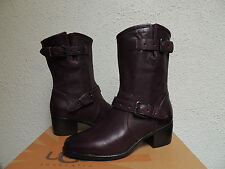 UGG COLLECTION CONCHETTA RARE WINE LEATHER/ SHEEPSKIN BOOTS, US 7/ EUR 38 ~NEW