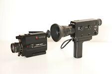 Braun Nizo 206 XL (Working great) + Canon 310 XL (For parts ) Super 8  camera