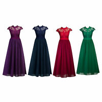 Women Formal Wedding Evening Cocktail Ball Gown Lace Prom Bridesmaid Dresses