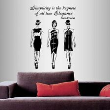 Vinyl Decal Coco Chanel Quote Girls Models Fashion Style Sticker 1946