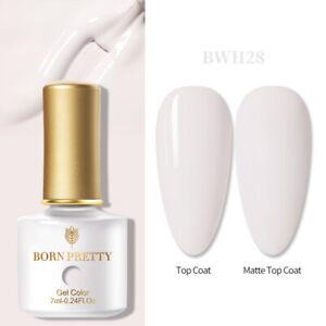 BORN PRETTY 7ml Nail Art UV Gel Polish Soak-off LED Varnish Matte Top Base Coat