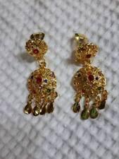Traditional Thai Dance gold EARRINGS crown craft VINTAGE RAM shining jewelry ART
