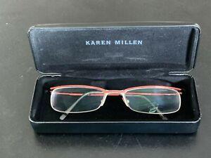 Diesel Unisex eyeglasses metallic frame Karren Millen case, red color