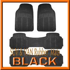 Fits MAZDA 5  ALL WEATHER SEMI CUSTOM  BLACK  RUBBER FLOOR MATS / 4  PCS