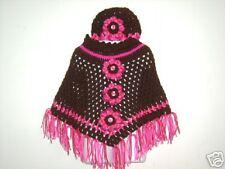 Boutique Handmade Crochet Poncho sz 3t-6 x