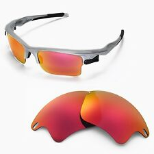 WL Polarized Fire Red Replacement Lenses For Oakley Fast Jacket XL Sunglasses