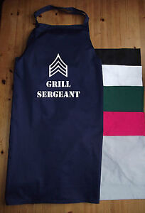NEW FUNNY APRON - GRILL SERGEANT - CHEF, COOKING, BBQ, BIRTHDAY PRESENT