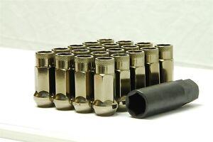 MUTEKI SR48 OPEN-END 20PC LUG NUTS 12x1.50 1.5 FOR ACURA/HONDA TITANIUM