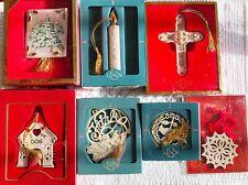 Lenox Christmas Ornaments; 7 Pieces
