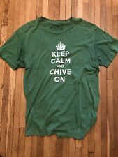 Keep Calm and Chive On Crew-neck Tee Size 2XL