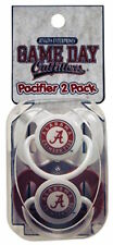 Alabama Crimson Tide Baby Pacifiers Infant 2 Pack Set Pacifiers Team Colors