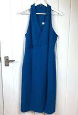Reiss Abriana Dress V Neck Royal Blue UK 12