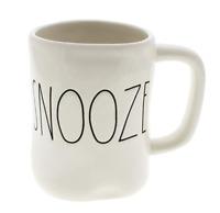 Rae Dunn SNOOZE Large Farmhouse Chic Mug Cup White Cream NEW