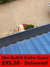 20m BLACK Leaf Guard - DIY Gutter Mesh Aluminium - Gutterguard - Free Delivery