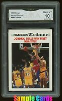 1991 Hoops #542 Tribute NBA Finals Michael Jordan GMA 10 = PSA 10? GEM MINT