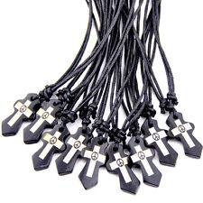 6PCS Tribal Style Peace Cross bone Pendant Necklace W183