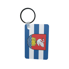 Schlüsselanhänger Flagge Fahne Tönning Alu 40 x 57 mm