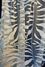 Heco Store Gardine Ausbrenner Stoff Zebra weiß Vorhang Meterware 300 cm hoch 1m