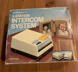 ARCHER 2-STATION INTERCOM SYSTEM VINTAGE RADIO SHACK 43-221A - NEW in Box