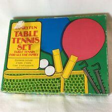 VINTAGE Retrò Tennis Da Tavolo Set-COMPLETO E ORIGINALE-MOLTO RARO-Ping Pong