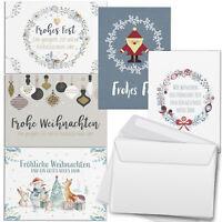 EF 50x Weihnachtskarten 0,30€//St Karten Glückwunschkarten Weihnachten  22-6650