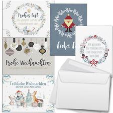 30 Weihnachtskarten (5x6) im Set Umschlag Set Grußkarten Weihnachten Mix 1