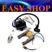 Electric Kit 49cc 66 80cc Motorized Push Bike Engine Magneto Coil CDI Spark Plug