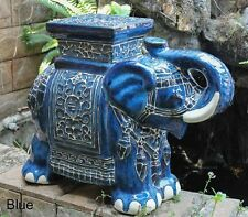 Garden Stool Ceramic Porcelain Large Elephant Plant Stand Patio End Table Side