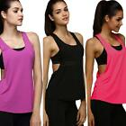 Women's Sports Vest Fitness Exercise Blouse Jogging Running Gym Yoga Tank Tops