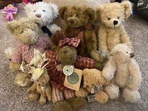 Job Lot Traditional Style Teddy Bears. Boyds Russ Etc