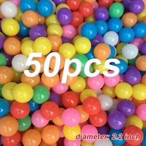 50pcs/Bag Colorful Pit Balls For Kids Swim Pool/Tent Soft Eco-Friendly Plastic O
