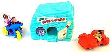 Bedrock Bowl-O-Rama Toy Fred Flintstone 1993 Dino Pebbles 90s Amblin Mcdonalds