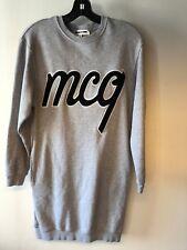 MCQ Alexander McQueen XS Gray tunic sweatshirt dress; pockets terry logo Bin-J