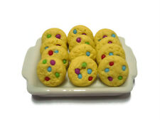 12  Rainbow Candy Cookie  on Tray Dollhouse Miniatures Mini Food Bakery