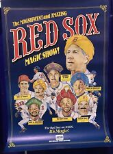"""26x38"""" VINTAGE POSTER: THE MAGNIFICENT & AMAZING RED SOX MORGAN MAGIC SHOW; NESN"""