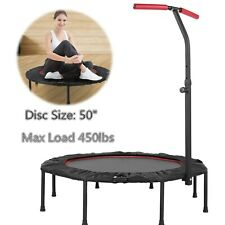 "50""Fitness Trampoline Mini Rebounder Fitness Foldable Gym Cardio Jump Trainer US"