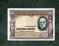 BILLETE 50 pesetas 1935 0141069  EBC