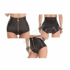 Women High Waist PU Leather Boy Boxer Shorts Underwear Knicker Pants Party Dance