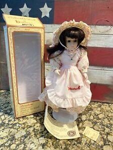 Brinn's Porcelain Birthstone Dolls of the Month March w/ Box Vintage 1988 Coa