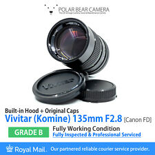 ⭐SERVICED⭐ Vivitar KOMINE 135mm F2.8 Telephoto Prime for Canon FD/FL [GRADE B]