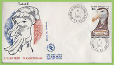 French Antarctic 1985 3f.90, Amsterdam Albatross on First Day Cover