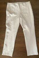 Chico's Size 2.5 14 R Cream So Slimming Straight Leg Pull On Knit Pant Nwt