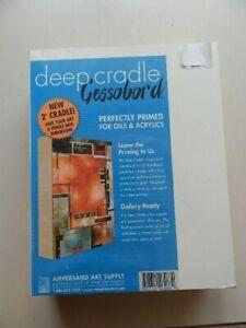 "Deep cradle 2"",  Gessoboard, 8x10, Ampersand Art Supply."