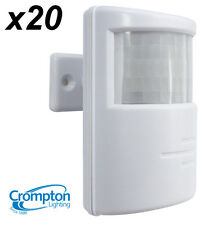 20x Crompton PIR Motion Sensor - for Outdoor Security Lights / Floodlights WHITE
