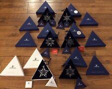6 SWAROVSKI Crystal Annual Christmas ORNAMENTS LOT 2001 '02, '03,'04, '05 & 2006