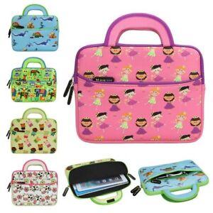 "8.9"" ~ 10.1"" Tablet Neoprene Cute Kids Sleeve Carrying Case w/ Handle & Pocket"