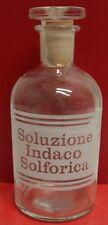 Vintage Chimica Farmaceutica anni 40/50 bott/ta Soluzione Indaco   Solforica