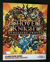 "Shovel Knight Treasure Trove Poster 28"" x 22"" Gamestop Exclusive Promo Poster"