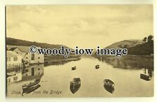 tp0217 - Cornwall - View of Looe from the Bridge looking up the River - Postcard