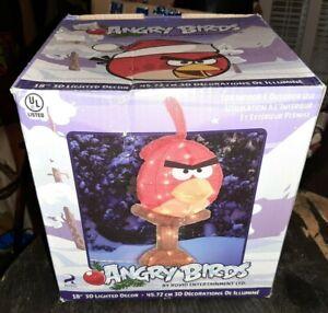 "Brand New Rovio Angry Birds 3D 18"" Tinsel Holiday Tinsel Sculpture Display"
